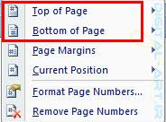 شماره گذاری صفحات در ورد2007 -3