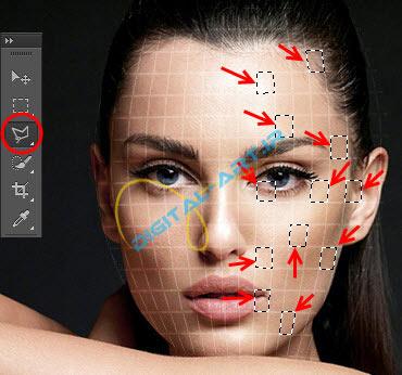 آموزش ایجاد افکت تخریب بلوکی صورت در فتوشاپ-10