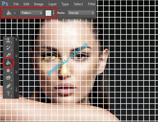 آموزش ایجاد افکت تخریب بلوکی صورت در فتوشاپ-3