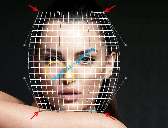 آموزش ایجاد افکت تخریب بلوکی صورت در فتوشاپ-6