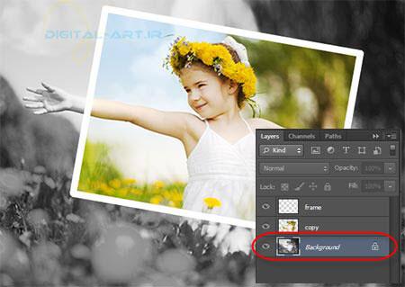 آموزش جلوه عکس رنگی در سیاه و سفید در فتوشاپ-10