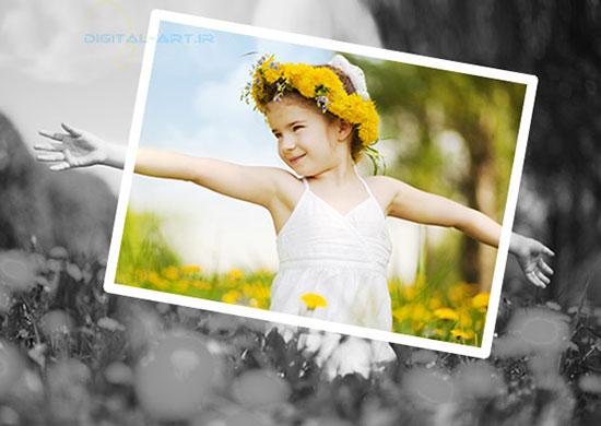 آموزش جلوه عکس رنگی در سیاه و سفید در فتوشاپ-11