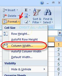 تغییر ارتفاع سطر و عرض ستون در اکسل-10