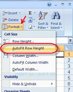 تغییر ارتفاع سطر و عرض ستون در اکسل-6