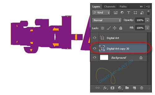 ساخت متن سه بعدی ساده در فتوشاپ-12