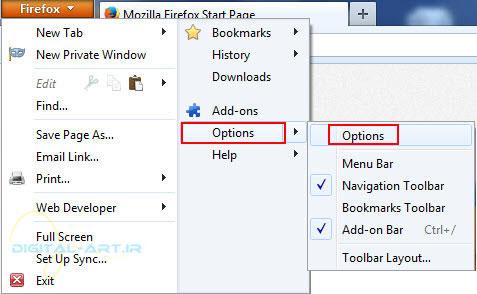 تغییر پوشه دانلود firefox و internet explorer - عکس 1