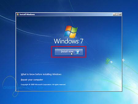 آموزش تصویری نصب ویندوز 7 - عکس چهارم