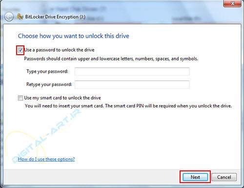 رمز گذاری روی درایو ها و حافظه های جانبی در ویندوز 7 - 02