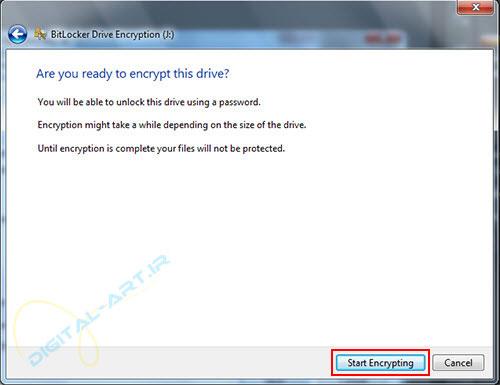 رمز گذاری روی درایو ها و حافظه های جانبی در ویندوز 7 - 05