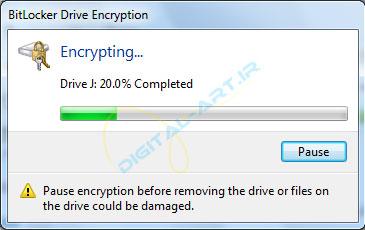رمز گذاری روی درایو ها و حافظه های جانبی در ویندوز 7 - 06