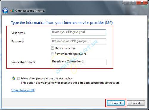 آموزش ساخت کانکشن ADSL در ویندوز 7 و 8 -08