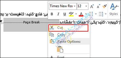 آموزش حذف Page Break بکار رفته در سندهای ورد-4