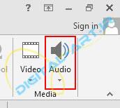 آموزش قراردادن فایل صوتی (آهنگ) بر روی ارائه پاورپوینت 2013-1