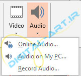 آموزش قراردادن فایل صوتی (آهنگ) بر روی ارائه پاورپوینت 2013-2