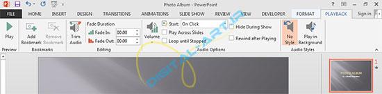 آموزش قراردادن فایل صوتی (آهنگ) بر روی ارائه پاورپوینت 2013-7