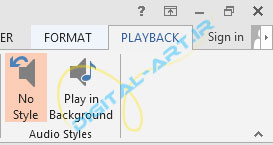 آموزش قراردادن فایل صوتی (آهنگ) بر روی ارائه پاورپوینت 2013-8
