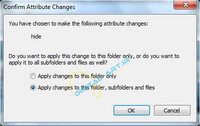 آموزش مخفی کردن فایل ها و پوشه ها در ویندوز-03
