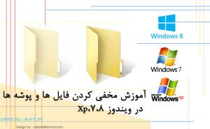 آموزش مخفی کردن فایل ها و پوشه ها در ویندوز-کاور