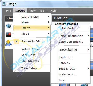 آموزش نرم افزار Snagit - عکسبرداری از صفحه نمایش-06