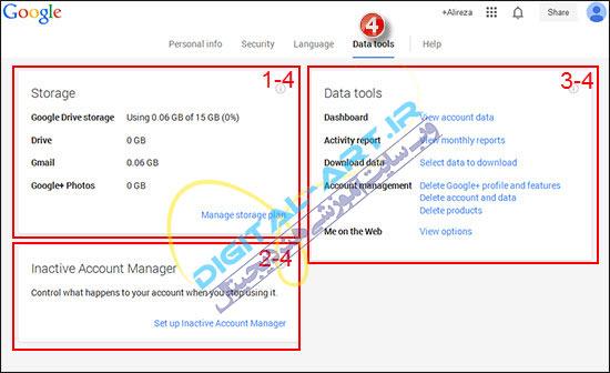 آموزش سرویس Gmail-تنظیمات و ویرایش اطلاعات-1-7