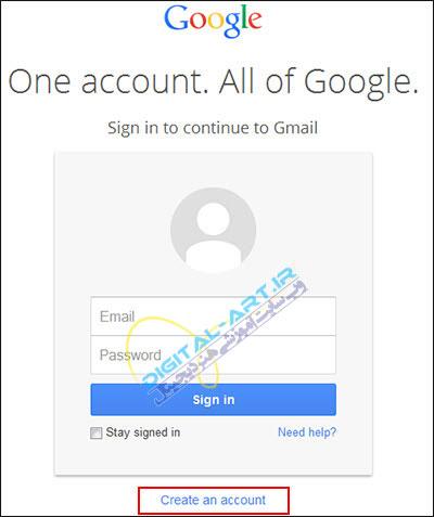 آموزش کار با سرویس Gmail-ساخت اکانت-2
