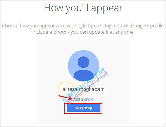 آموزش کار با سرویس Gmail-ساخت اکانت-7