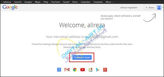 آموزش کار با سرویس Gmail-ساخت اکانت-8