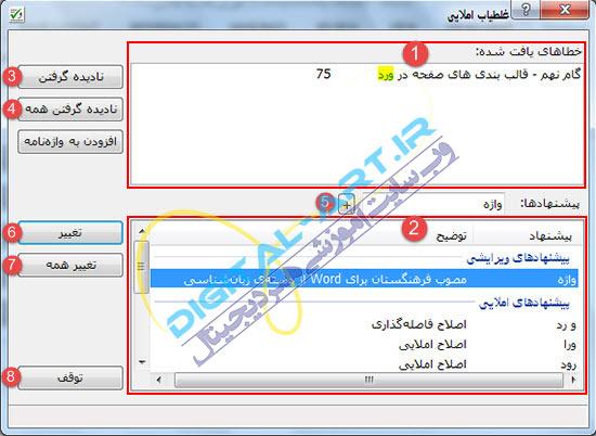 آشنایی و نحوه کار با افزونه ویراستیار فارسی-3
