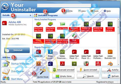 آموزش کامل نرم افزار your uninstaller pro (حذف کامل نرم افزارها)-01