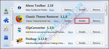 باز گرداندن پوسته قبلی Firefox و نوار ابزار Add-on bar در فایرفاکس 29-04