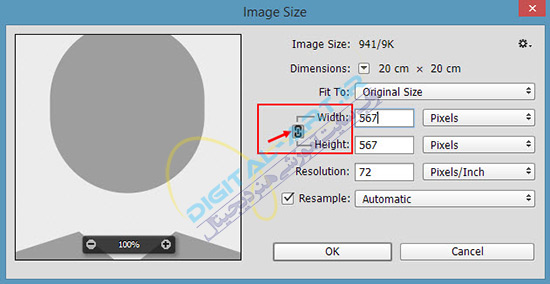 تغییر سایز (اندازه) عکس ها و تصاویر در فتوشاپ-04