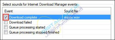 اجرای صدا بعد از دانلود فایل در IDM-06