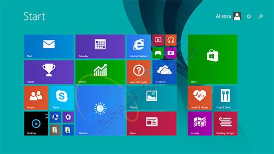خاموش کردن حالت نمایش آنلاین اطلاعات در کاشی ویندوز 8 و 8-1--02