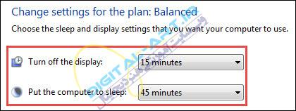 تنظیم زمان خاموش شدن صفحه نمایش و Sleep ویندوز -05