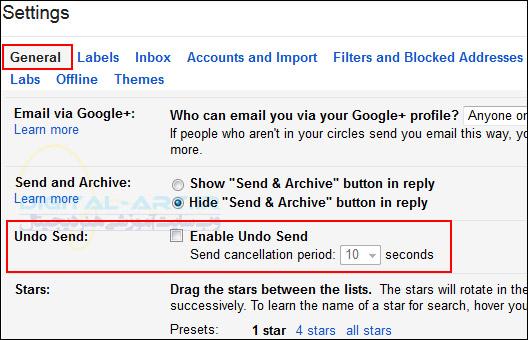 آموزش لغو ارسال ایمیل فرستاده شده در Gmail -02