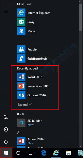 چگونگی مشاهده آخرین نرم افزارهای نصب شده در ویندوز 10 - 01