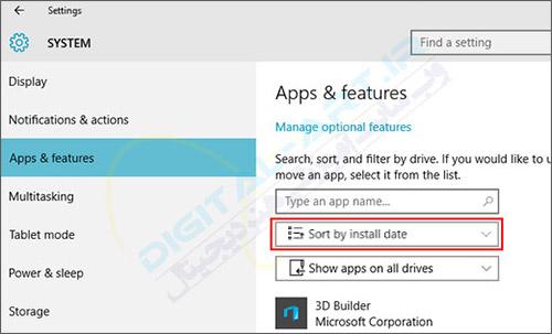 چگونگی مشاهده آخرین نرم افزارهای نصب شده در ویندوز 10 -04