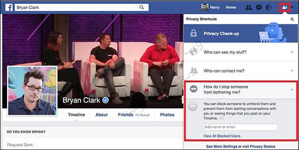 نحوه بلاک و آنبلاک کردن افراد در فیسبوک -03