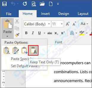 آموزش حذف لینک ها از اسناد مایکروسافت ورد -03