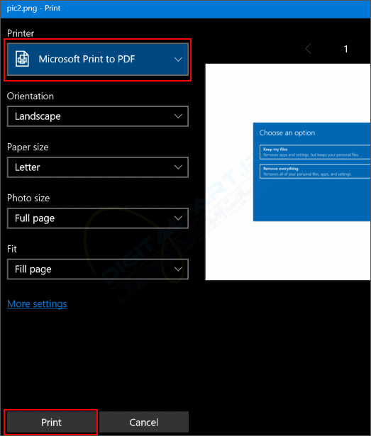 تبدیل عکس JPEG و PNG به فایل PDF در ویندوز 10 -02