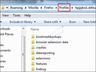 3 راه پیدا کردن محل ذخیره پروفایل موزیلا فایرفاکس -05
