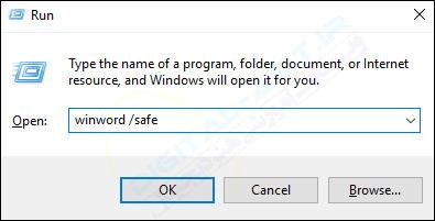 آموزش اجرای برنامه های Word, Excel, PowerPoint در حالت Safe Mode -03