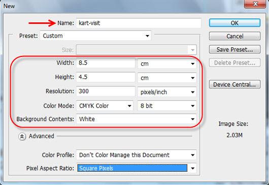 آموزش طراحی کارت ویزیت ساده و شیک -1-1