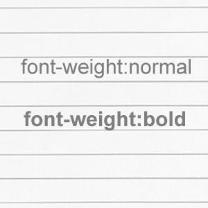 css-font-weight