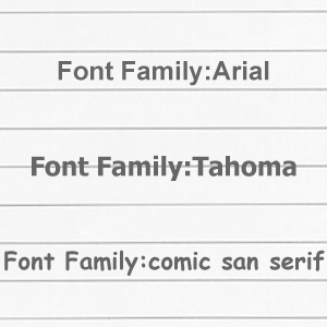css-fontfamily