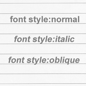css-fontstyle