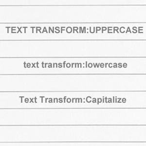 css-texttransform